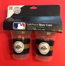MILWAUKEE BREWERS 2 Sippy Cups MLB Baseball Spill Proof Cup BPA Free 5 oz. NEW