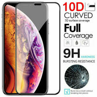 [2-Pack] For iPhone 11 Pro X XR XS Max 10D Real Tempered Glass Screen Protector