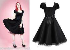 H&R London Rockabilly Sommer Kleid Petticoat Tanzkleid 50er Pin up Vintage 6655