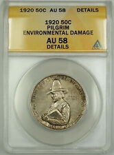 1920 Pilgrim Commemorative Silver Half 50c Coin ANACS AU-58 Details Envi. Damage
