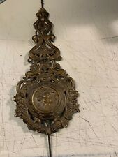 Antique Art Nouveau Wall Clock Pendulum