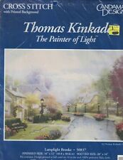Candamar Designs LAMPLIGHT BROOKE 50837 Cross Stitch Kit Thomas Kinkade 1995