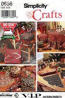 1992 Christmas Decor Ornament Tree Skirt No Sew Pattern Simplicity 8160/0656 OOP