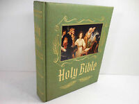Vintage 1960's Heirloom Holy Bible Master Reference Red Letter Edition Green