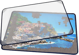 Tektalk Jigsaw Puzzle Board Portable Puzzle Mat with Puzzle Dustproof Cover for