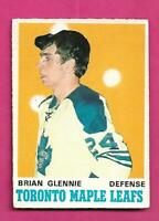 1970-71 OPC  # 216 LEAFS BRIAN GLENNIE ROOKIE VG+ CONDITION CARD (INV# D3324)