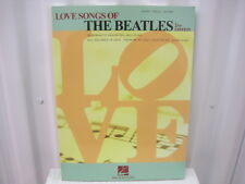 The Beatles Love Songs of 2nd Edition Piano Vocal Guitar Music Song Book