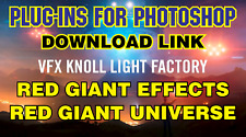 Knoll Light Factory 3.22+Red Giant Effects+Gian Universe Plugins Adobe Photoshop