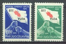 ITALY TRIEST ZONE B 1951 STT Vuja - Red Cross Sass. 39/40 MI. ZW3/P3 MNH SET