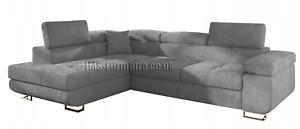 Corner Sofa  ANTON - GREY - _____FAST  DELIVERY ___ Scotland +£59 !