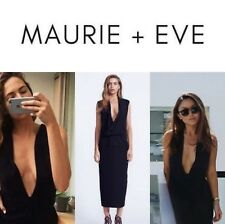 Maurie & Eve Lillianne Dress Size 8 Black Midi Brand NEW with Tags