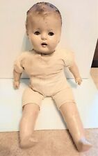 Antique Vintage 1920S 1930S Composition Baby Doll 23'' Crier Cloth Body Unmarked