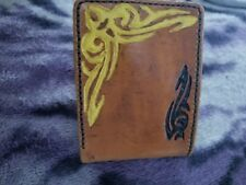 Heavy Weight Hand Made Tribal Leather Bi-Fold Wallet