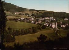 Polen, Riesengebirge. Johannisbad-Panorama. vintage print photochromie, vintag