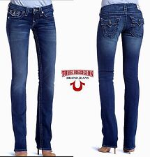 NWT$258 TRUE RELIGION BILLY LOW RISE STRAIGHT SUPER T JEAN. MADE IN USA.SZ27