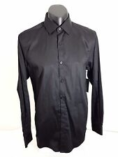 CONNOR Mens Shirt Black Cape Dress Business Casual Size Small %100 Cotton New