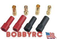 XT150 6MM Bullet Connector Plug Set (Red / Black, Male / Female)150+ Amps