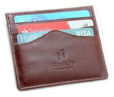 Starhide Vera Pelle Sottile titolare della carta di credito/Oyster Card Case 1215-Marrone