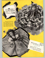 1950 PAPER AD Reina Doll Co Corp Mohair Best Dressed Lingerie Lou Undressed Doll