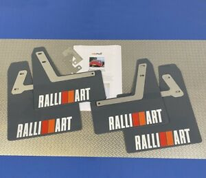 Mitsubishi Lancer Evo 9 RS GT GSR Mudflaps & Fixings Grey 4mm PVC Ralliart W/RO
