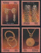 LAOS N°1640/1643**  Bijoux en or, 2007 Jewerly Sc#1707-1710 MNH