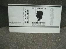 Vintage Silhouette Cigarette Tobacco Packaging Label