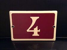 French solid enamel door number plate 4   #55
