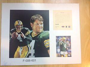 Brett Favre Green Bay Packers NFL 11x14  Numbered Print  Future Falcons Vikings