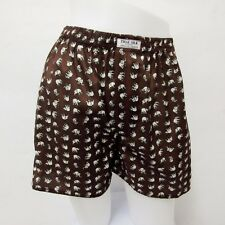 L SIZE 06 DARK BROWN SHORTS ELEPHANT LADY THAI PANTS THIN MEN ORIGINAL BOXER HOT