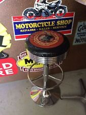 INDIAN MOTORCYCLE PREMIUM BAR STOOL ADJUSTABLE HEIGHT HARLEY MOTORCYCLES