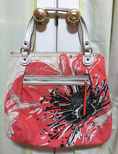 COACH - POPPY Placed Flower Glam Sequin Tote Purse Hobo Shoulder Bag w/ Dust Bag