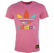 Adidas Originals Pharrel Williams Trefoil Tshirt Men's Size XL Slim Fit Pink