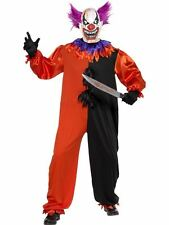 "Cirque Sinister Scary Bo Bo the Clown Costume,Halloween Fancy Dress,46""-48"" #AU"