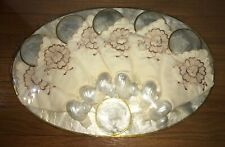 VTG 24 Pc CAPIZ Mother of Pearl Shell Placemats Napkins Rings, Napkins Coasters