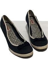 "Keds  ""Bliss"" blue wedge heels size 7.5"