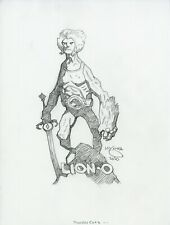 Mike Mignola Original Lion-O ThunderCats Pencil Sketch