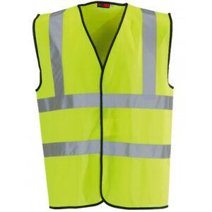 Blackrock Yellow Hi Vis High Viz Visibility Vest Safety Waistcoat Jacket (80300)