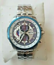 Casio Edifice Mens Blue Steel Chronograph Watch EF-558D-7AVDF - *NEW & BOXED*