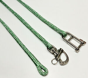 10mm 12mm Spliced Polyester Braid on Braid Pre Stretched Halyard rope Green
