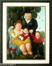 Botero Art Poster Custom Framed A Family