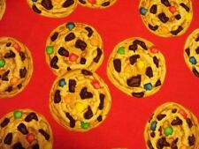 COOKIES CHOCOLATE CHIP RED COOKIE DESSERT COTTON FABRIC BTHY