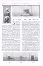 1901 miras naval y barril Premio-leña práctica de destino flotante
