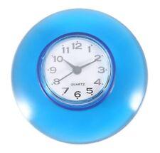 Horloge de douche, salle de bain ventouse, pile fournie, bleue