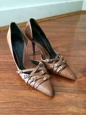 BALLY Brown Leather Heels Size 36EU 5.5US