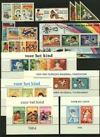 Netherlands Antilles 1984/8 range of sheetlets to include Curacao Basebal Stamps
