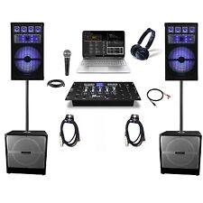 8000 Watt Complete DJ System Professional Sound DJ Mixer DJ Laptop Sound System