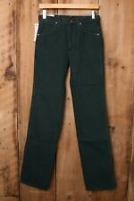 WRANGLER Green Heavyweight Denim 936 Slim Fit Cowboy Cut Jeans Sz. 28x34