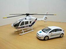 HELICOPTERE EUROCOPTER EC135 SAMU et CITROEN C4 AMBULANCE 1/43