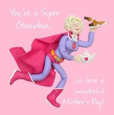 """SANTO Maccarello """"sei un Super Nonna!"""" la Festa della Mamma Carta Libera 1ST P & P"""