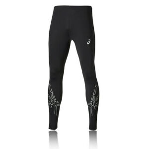 Asics Mens TIGER Running Tights Bottoms Pants Trousers Black Sports Gym
